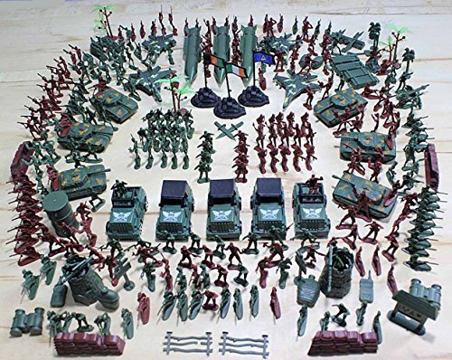 1:42 Scale Bucket of 307 Pieces/Set Toy Soldier Model Action Figure Playset for Kids Ages 3 and up