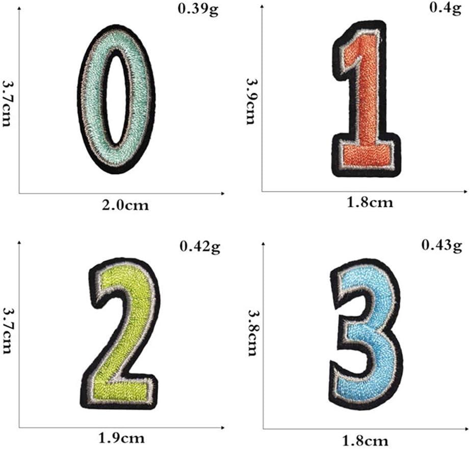 104Pcs Parches de Letras del alfabeto A-Z y 20Pcs Parches de n/úmero 0-9 para la camiseta Jeans Ropa Bolsas Proyectos de Costura Artesanal de Bricolaje GOTONE 124 Piezas Parches Bordados