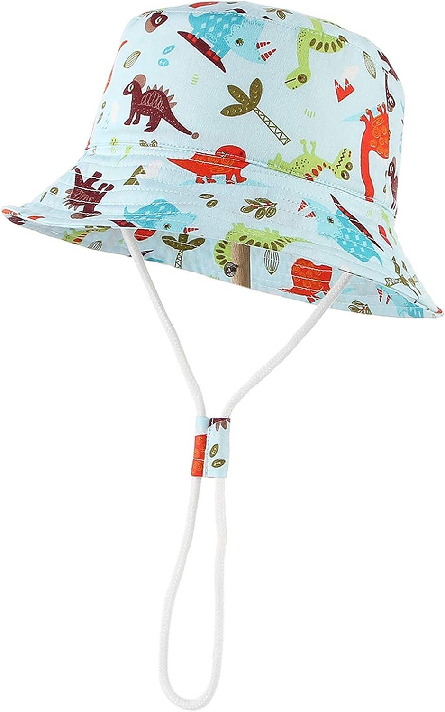 GEMVIE Bambino Unisex Berretto Stampato Dinosauro Cappello da Sole Bimba Fishmen Pescatore Cappellino Hat