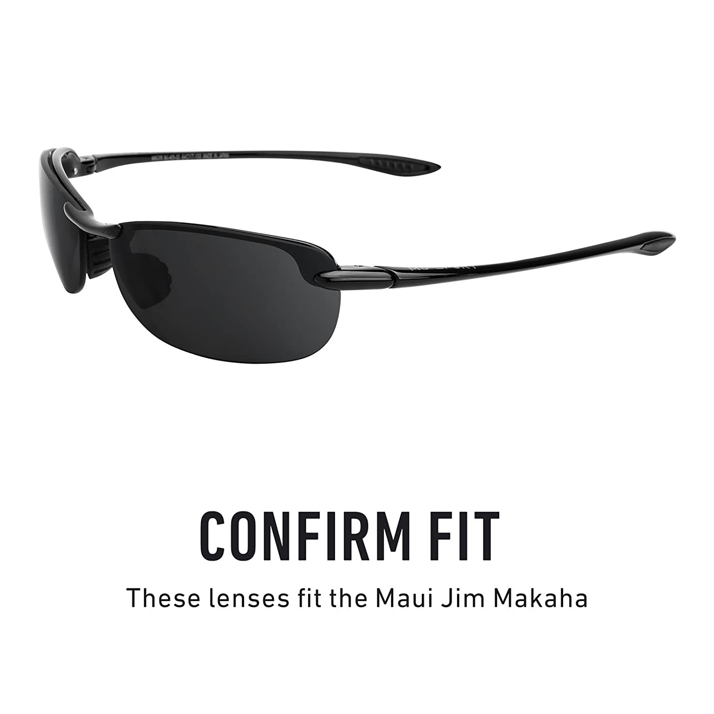 e5c21b5ed1 Revant Replacement Lenses for Maui Jim Makaha Stealth Black at Amazon Men's  Clothing store: