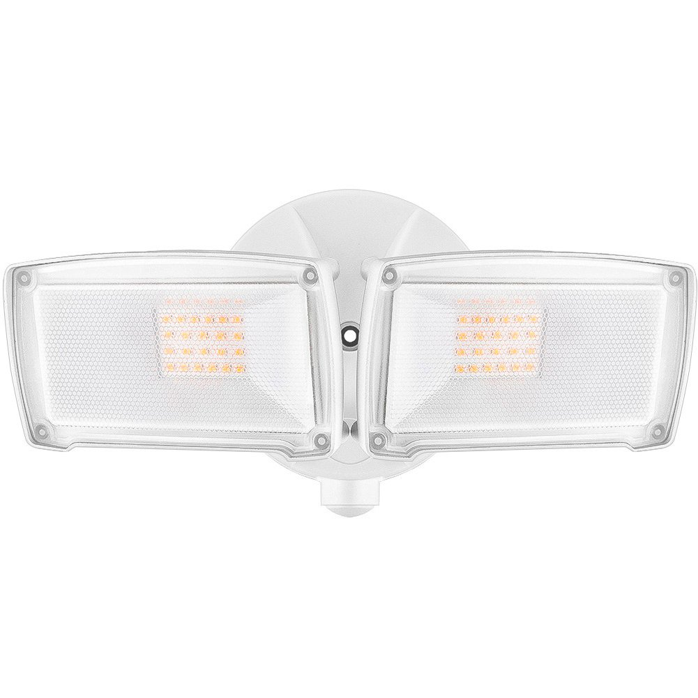LEPOWER 2500LM LED Security Light, 22W Outdoor Flood Light, ETL- Certified, 3200K, IP65 Waterproof, 2 Adjustable Heads for Entryways, Stairs, Yard and Garage(Warm Light)