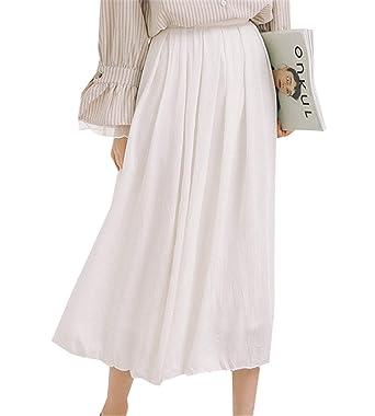Boern Falda para Mujer Talle Entallado, Falda de Cintura para ...