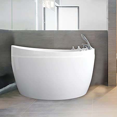 Empava Acrylic Freestanding Bathtub 48 Inch Air Jetted