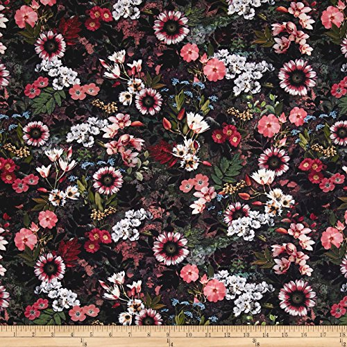 (RJR Fashion Fabrics Reverie Digital Floral Fantasy Fabric by The Yard, Multi)
