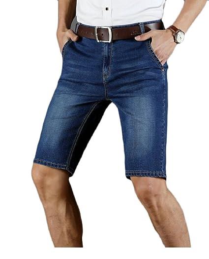 dc251ffb147 FLCH+YIGE Men Plus Size Fashion Slim Fit Denim Short Pant Jean Pants 1 27