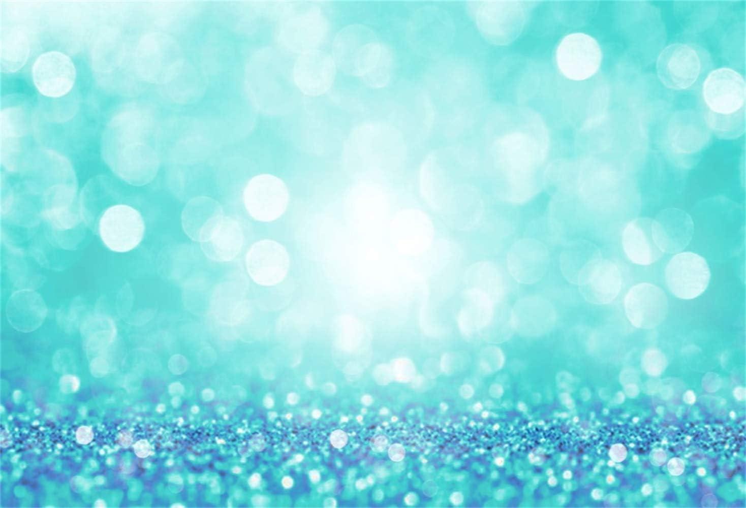 Amazon Com Laeacco 8x6 5ft Dreamlike Mint Green Glitter Bokeh
