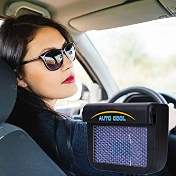Amazon com: Liucheng Portable Solar Powered Car Window Air