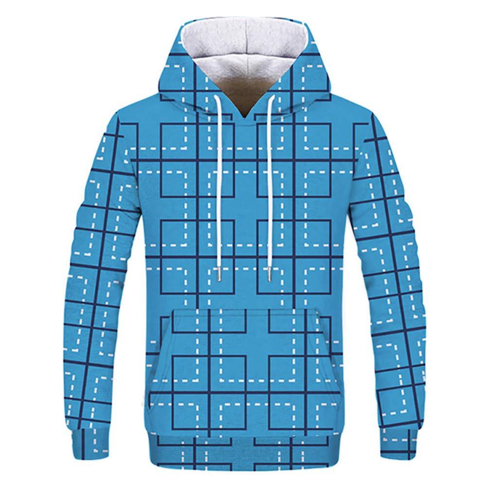 Yvelands Couple Sweat-Shirt à Capuche Sweat Impression 3D Chemise Top Tunic Manteau