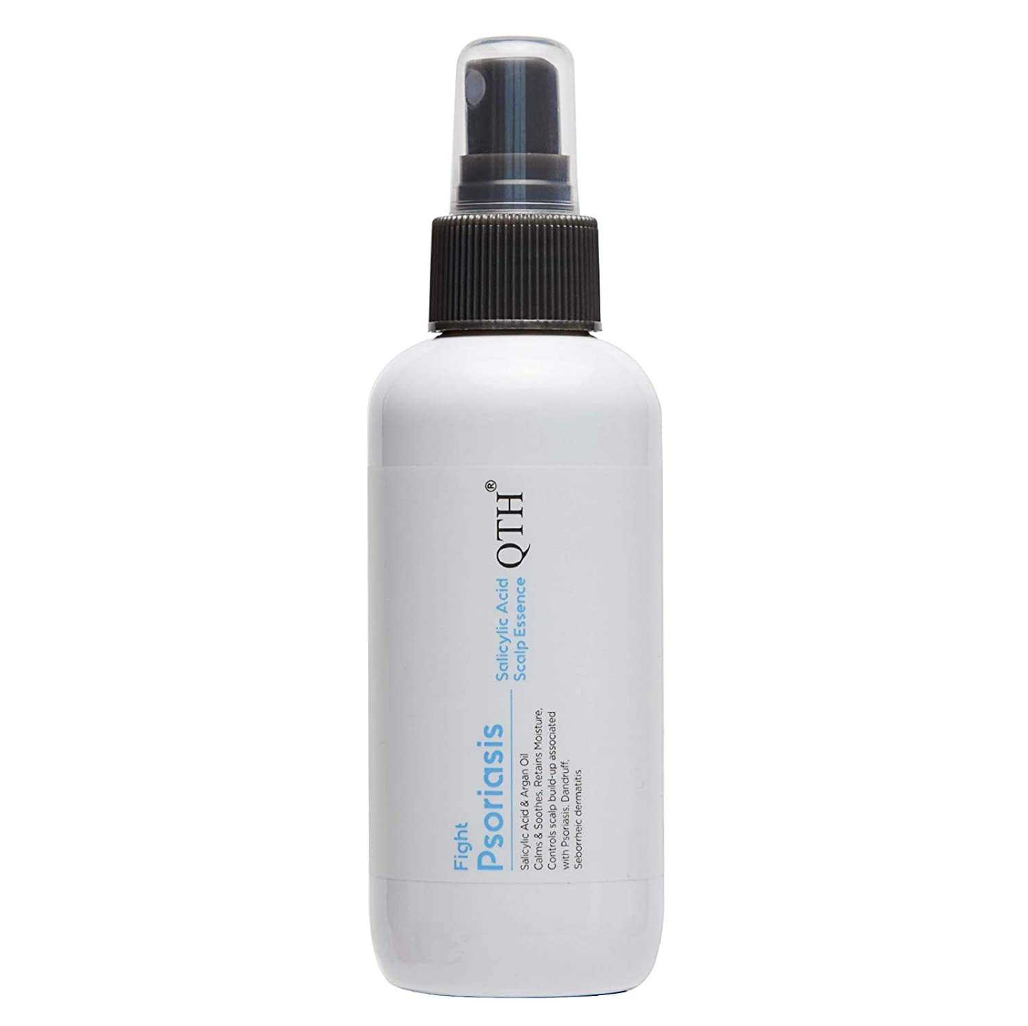 QTH Psoriasis Scalp Therapeutic Essence with Salicylic Acid & Argan Oil, Solution for Dry Itchy Skin