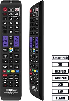 Alkia - Mando a Distancia Universal para Casi Todos los televisores Samsung / 3D/LCD/LED/HDTV/Smart TV, AA59-00666A BN59-01178W BN59-01199F AA59-00638A AA59-00637A AA59-00594A AA59-00600A AA59-00582A: Amazon.es: Electrónica