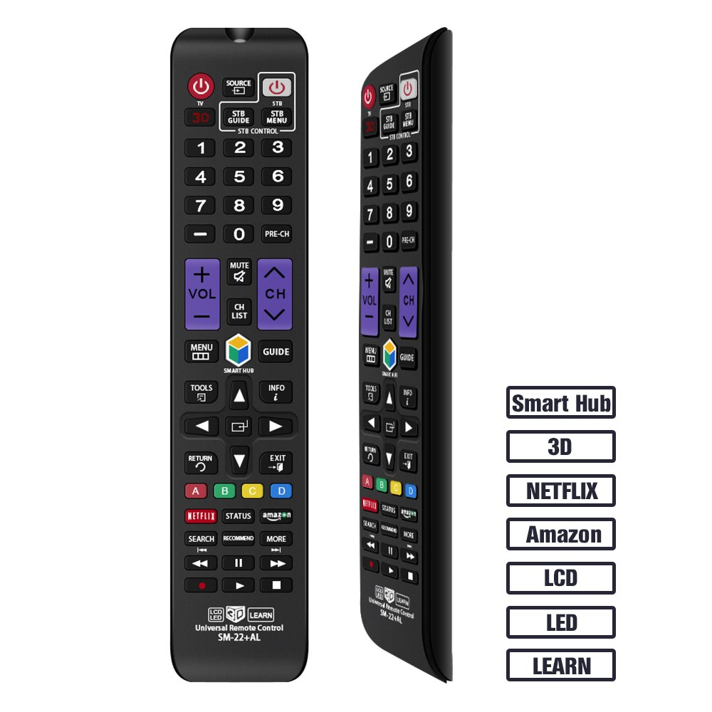 Gvirtue Universal Remote Control GSM-22 Compatible Replacement for Samsung TV/Smart TV, fit for AA59-00666A AA59-00784C BN59-01199F BN59-01178W BN59-01199F AA59-00594A AA59-00582A (SM-22) by Gvirtue