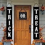 JOYET Trick or Treat Halloween Party Supplies Banner for Home Indoor Outdoor Halloween Decorations Trick or Treat Door Sign 3 PCS