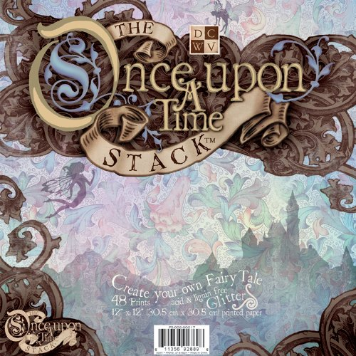 (Diecuts with a View PS005017 Once Upon A Time 12 inches by 12 inches Paper Stack with Glitter )