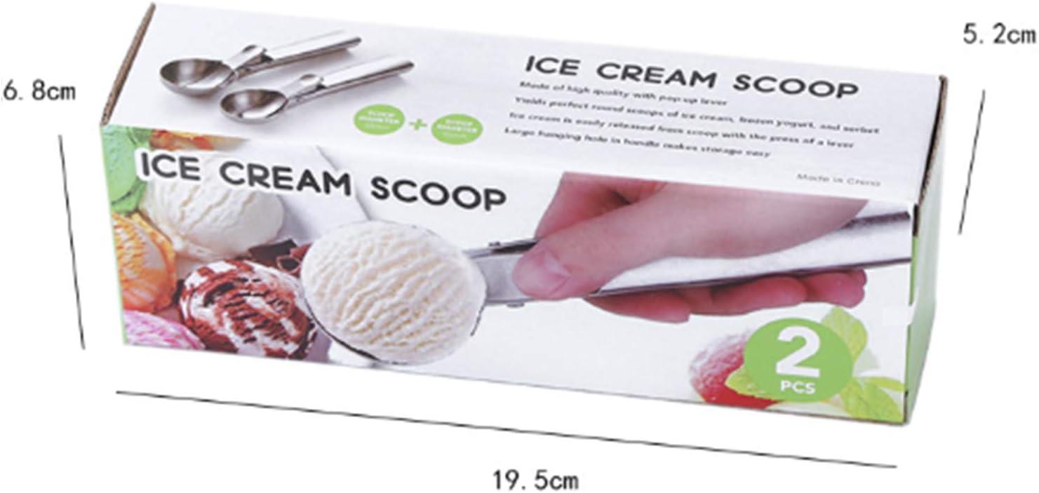 Lo Scoop di Patate E Lo Scoop di Polpette SUQ Paletta Gelato Kitchen Cucchiaio Gelato 2 Pezzi 5//5.6cm per Fare Il Gelato Acciaio Inox Gelato Cucchiaio con Easy Trigger Anguria