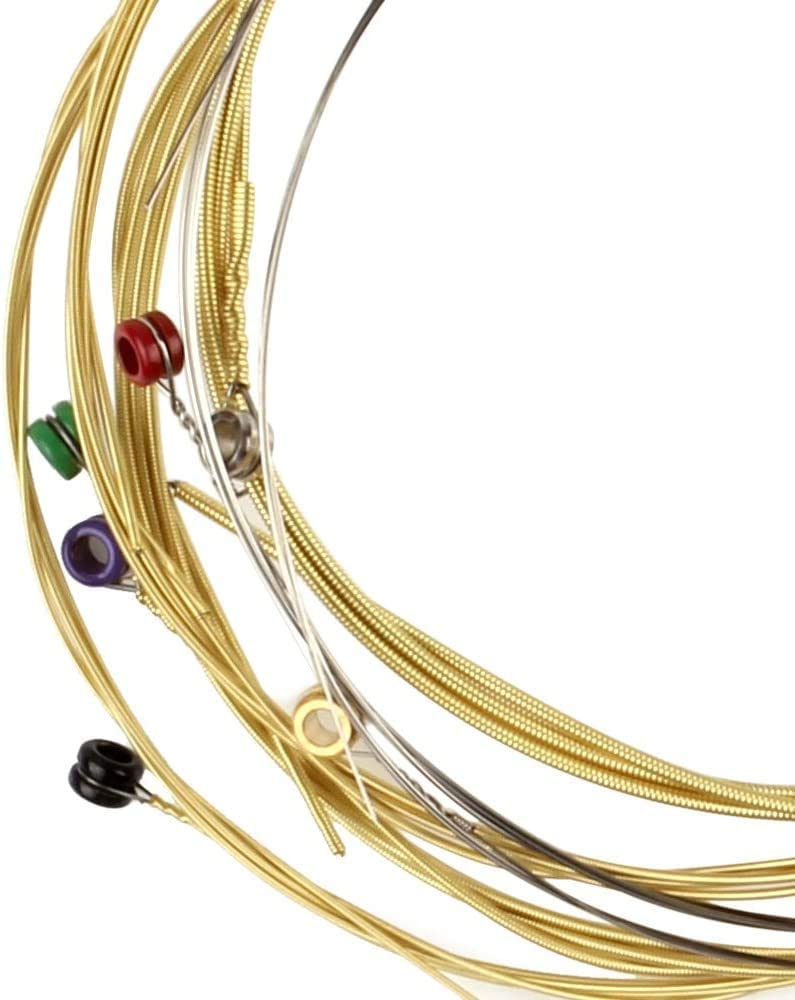 CAMOLA 6 Sets Guitar Strings .010-.053 TX620//TX630//TX640 Phosphor Bronze Colorful Ball-End Acoustic Guitar Strings