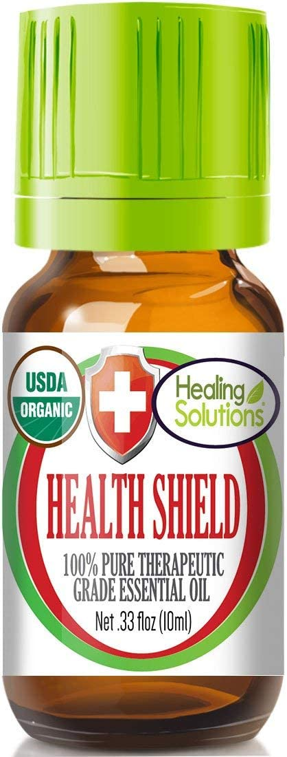 Organic Health Shield Blend Essential Oil (100% Pure - USDA Certified Organic) Best Therapeutic Grade Essential Oil - 10ml
