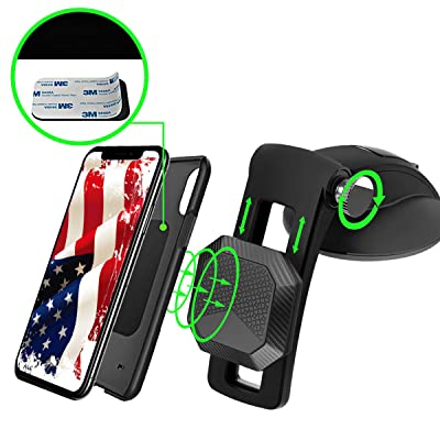 Magnetic Car Phone Mount Dashboard Windshield Car Phone Holder Magnetic Desk Suction Cup for iPhone 11 Pro Max XS XR 8 Galaxy S10 S9 Note10 Mini Tablet Phones by SSLJYFACTORY