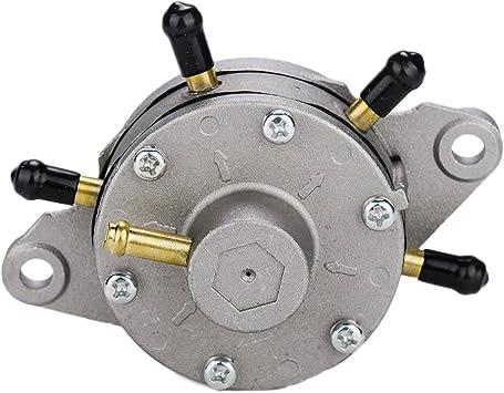 Round Vacuum Dual Fuel Pump For Snowmobile ATV Carts 35 Liter Per Hour