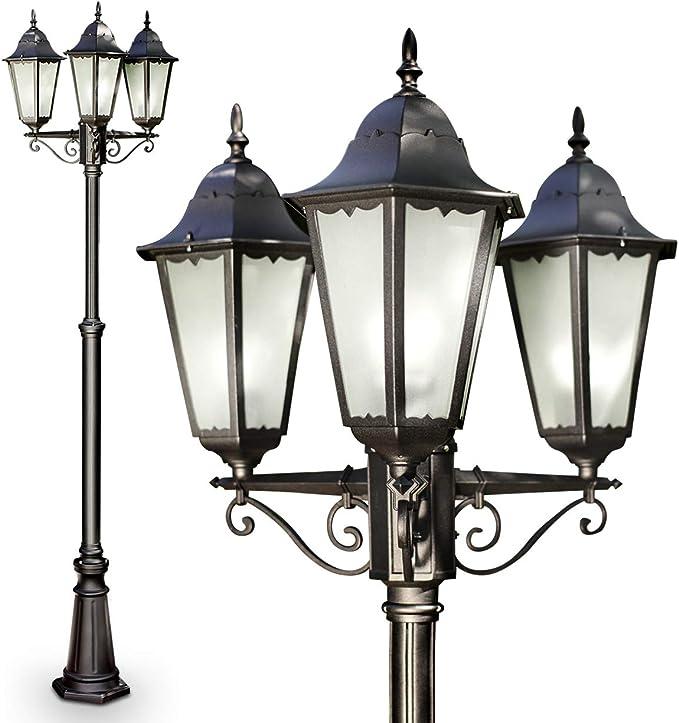 Helle 12W LED Stehleuchte für Außen Sockelleuchte Sockellampe Außenleuchte Lampe