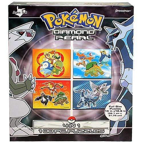 Pokemon Diamond and Pearl 4 Puzzle Set by Pokémon