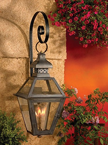 7919-WP Outdoor Gas Shepherd'S Scroll Wall Lantern Bayou Collection in Solid Brass in an Aged Copper Finish (Bayou Gas Lantern)