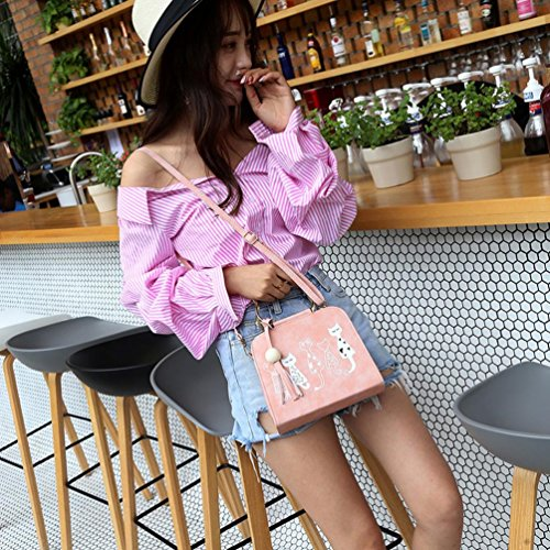 Yannerr Pattern Bag Shoulder Bag Animal Printing Women Messenger Cat Pink Crossbody 6YqxYtTpnE