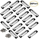UTOPER Clipboard Clips 20 Pack 3.94'' Stainless Metal Hardboard Clip with Rubber Feet - Silver