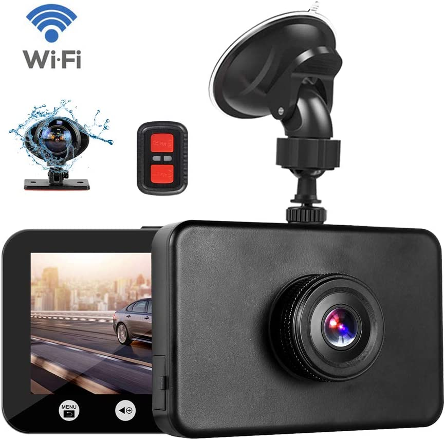 G-Sensor Vsysto Dash Cam WiFi 1080P FHD DVR Car Driving Recorder 4.5 Inch Front and Inside Dual Lens Camera 310/° Wide Angle Loop Recording