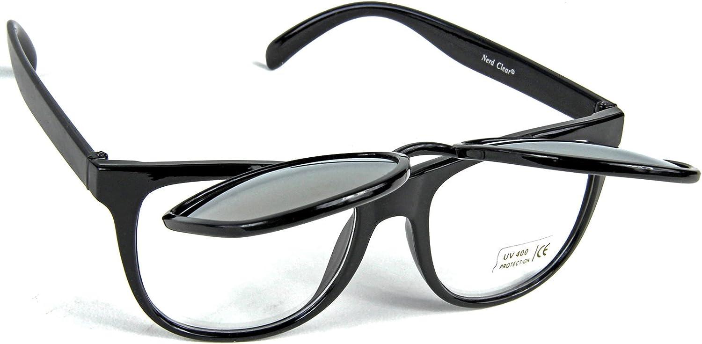 Nerdbrille Sonnenbrille aufklappbare Geek Brille Pantobrille