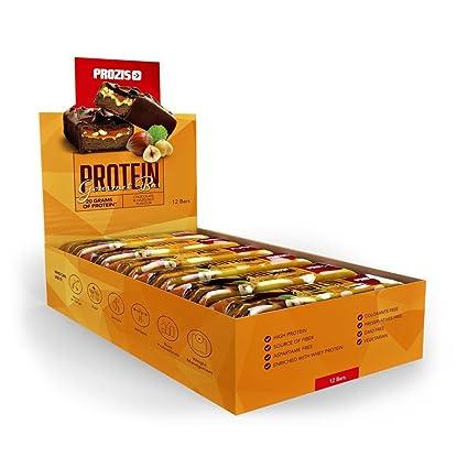 Prozis Protein Deluxe Bar 12 x 80 g – Delicioso aperitivo con sabor a chocolate y