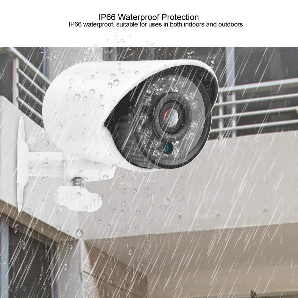 C/ámara de Bala para Seguridad en el Hogar//Exteriores 720p AHD C/ámara de Seguridad WIFI C/ámara de Vigilancia con 24 Luces Infrarrojas PAL