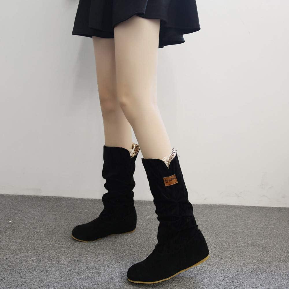 Subfamily-Bottes et bottines Femmes Hiver Bottes Cuissardes Chaussures Femmes Low Boots Femme Talon Plates Bottes Courtes