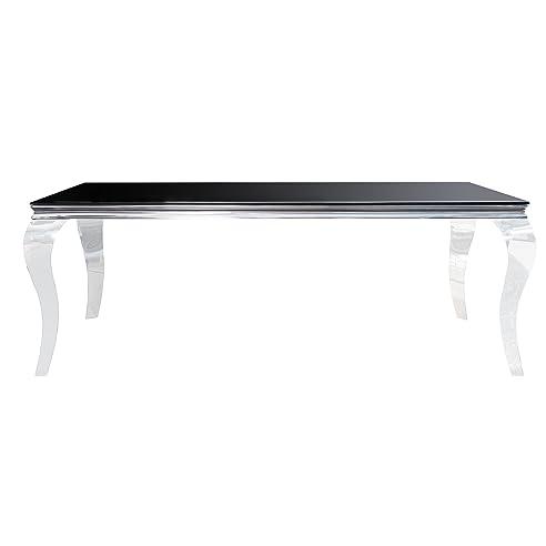 stylischer design esstisch modern barock 200 cm edelstahl mit tischplatte aus opalglas - Esstisch Barock Modern