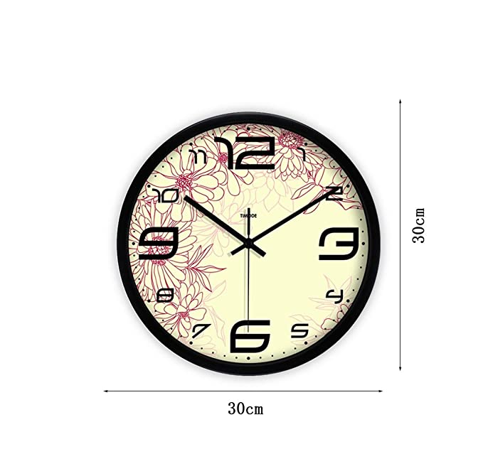 Amazon.com: LQQGXL Creative pattern stylish wall clock high definition glass mirror round clock mute quiet bedroom creative quartz clock Creative clock ...