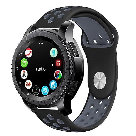 nuovo prodotto 60da9 e8c5c Leafboat Cinturino compatibile con Samsung Galaxy Watch 46mm, cinturino in  silicone con cinturino di ricambio con pin a sgancio rapido Orologio ...
