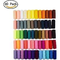 Candora® Lot de 60 Bobines de Fil à Coudre 229m Polyester Tout Usage pour Couture à la Main et Machine à Coudre, 60pcs