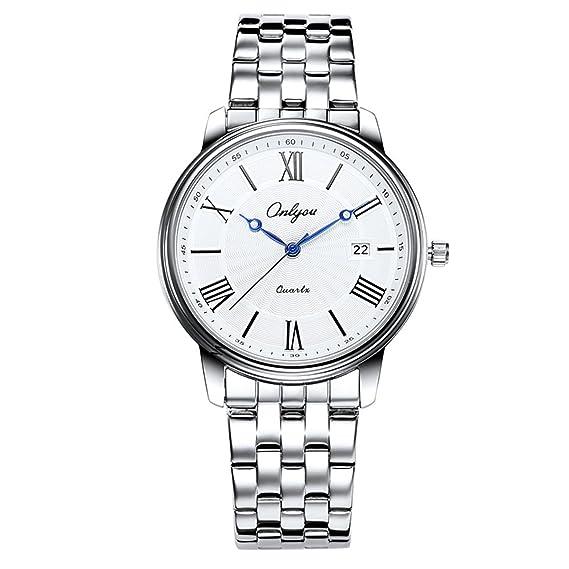 Onlyou cuarzo reloj de pulsera mujer moda lujo marca relojes resistente al agua: Amazon.es: Relojes