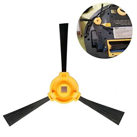4 Compatible Spare Side Brushes, Accessories for Robot Robot Ion Vacuum 750 720 700.We...