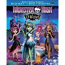 Monster High: 13 Wishes (Blu-ray + DVD + Digital Copy + UltraViolet) (2016)