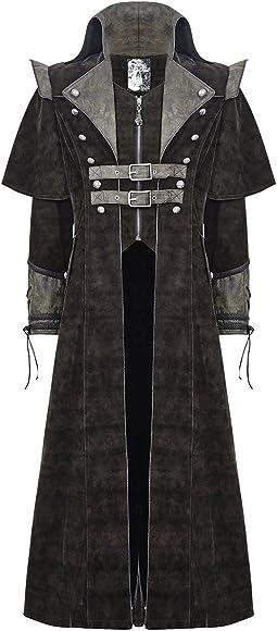 Details about Mens Gothic Steampunk Coat Vtg Regency Highwayman Long Jacket