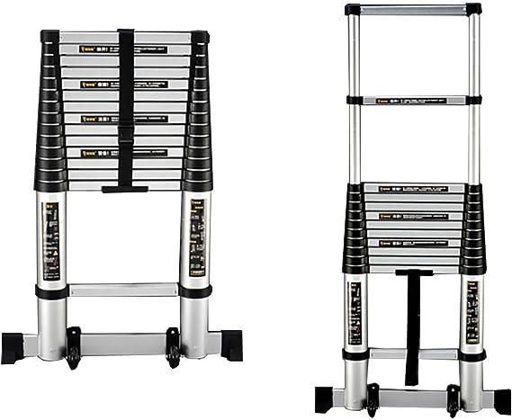 XXHDEE Escalera Plegable Multiusos, Escalera telescópica telescópica telescópica de Aluminio de 6.5 pies, 13.4 pies, Capacidad de 330 LB Taburete (Size : 4.1m(13.4ft)): Amazon.es: Hogar