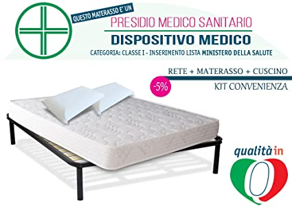 inmaterassi – Kit Dulce Sueño Light, colchón de matrimonio Memory Foam con bayscent Neutralizer,
