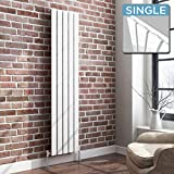 iBathUK | 1600 x 360 Vertical Column Designer Radiator White Gloss Single Flat Panel