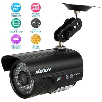 """KKmoon HD 1200TVL Cámara de Vigilancia Seguridad CCTV Exterior Visión Nocturna Impermeable 1/3"""""""