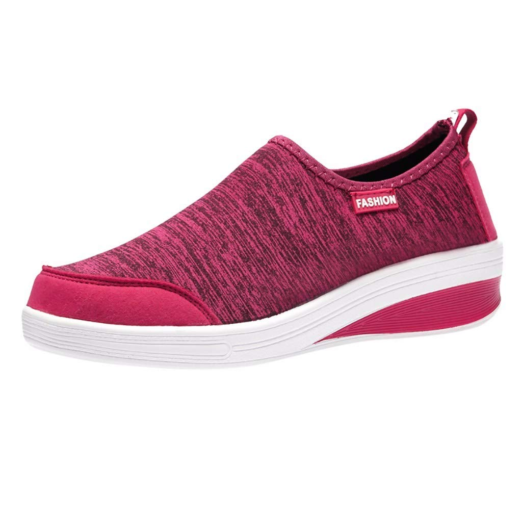 RAINED-Women Sneakers Walking Shoes Lightweight Mesh Slip-on Breathable Yoga Sneakers Low Top Classic Loafers