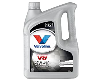 Aceite de motor Valvoline VR1 De carreras 5 W-50 Premium sintético - 873434 # 4 - 4 x 4 litros: Amazon.es: Coche y moto