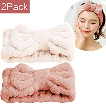 SweetCat Microfiber Bowtie Headbands, Extrame Soft & Ultra Absorbent, Comfort to Makeup Wash Spa...