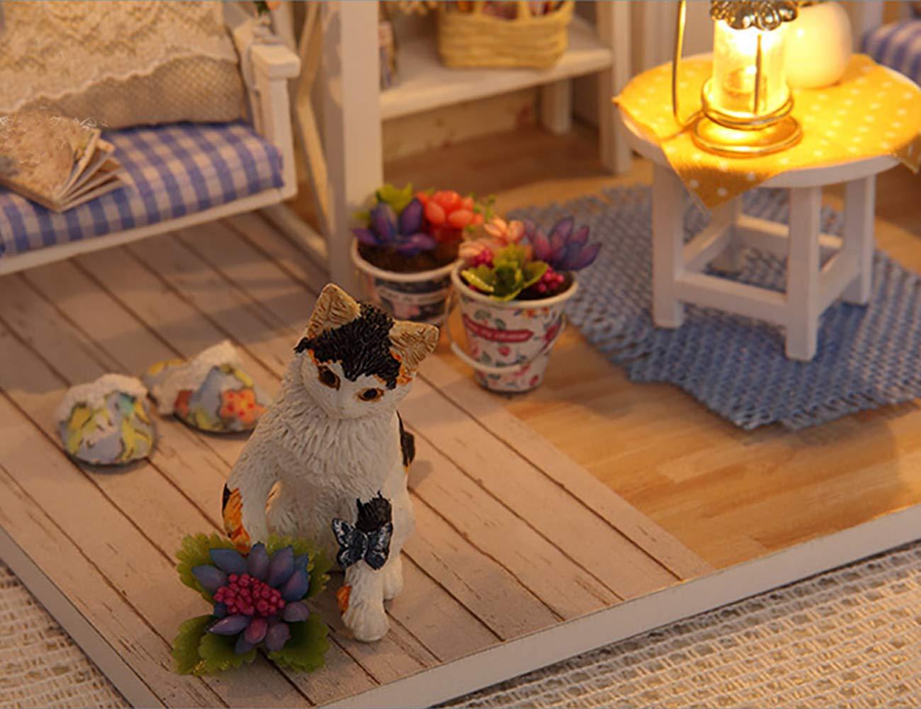 EZSTAX Box Theatre Miniatures DIY Mini Caja de Dollhouse con Muebles