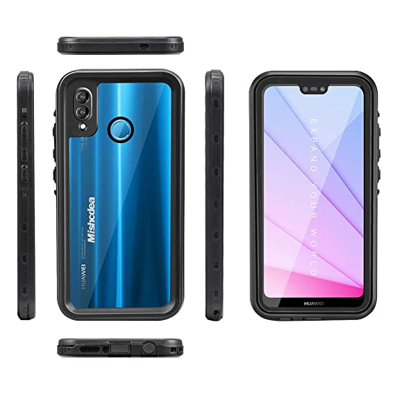 Mishcdea for Huawei P20 Lite Waterproof Case Shockproof Snowproof Dirtproof Full Body Phone Protector Cover Only for Huawei P20 Lite (Huawei Nova 3e), ...