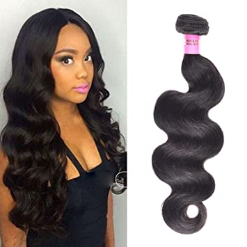 Women s Day Brazilian Virgin Hair Body Wave Hair Weave one Bundles 16inch  100% Unprocessed Virgin 1e6e4500a6